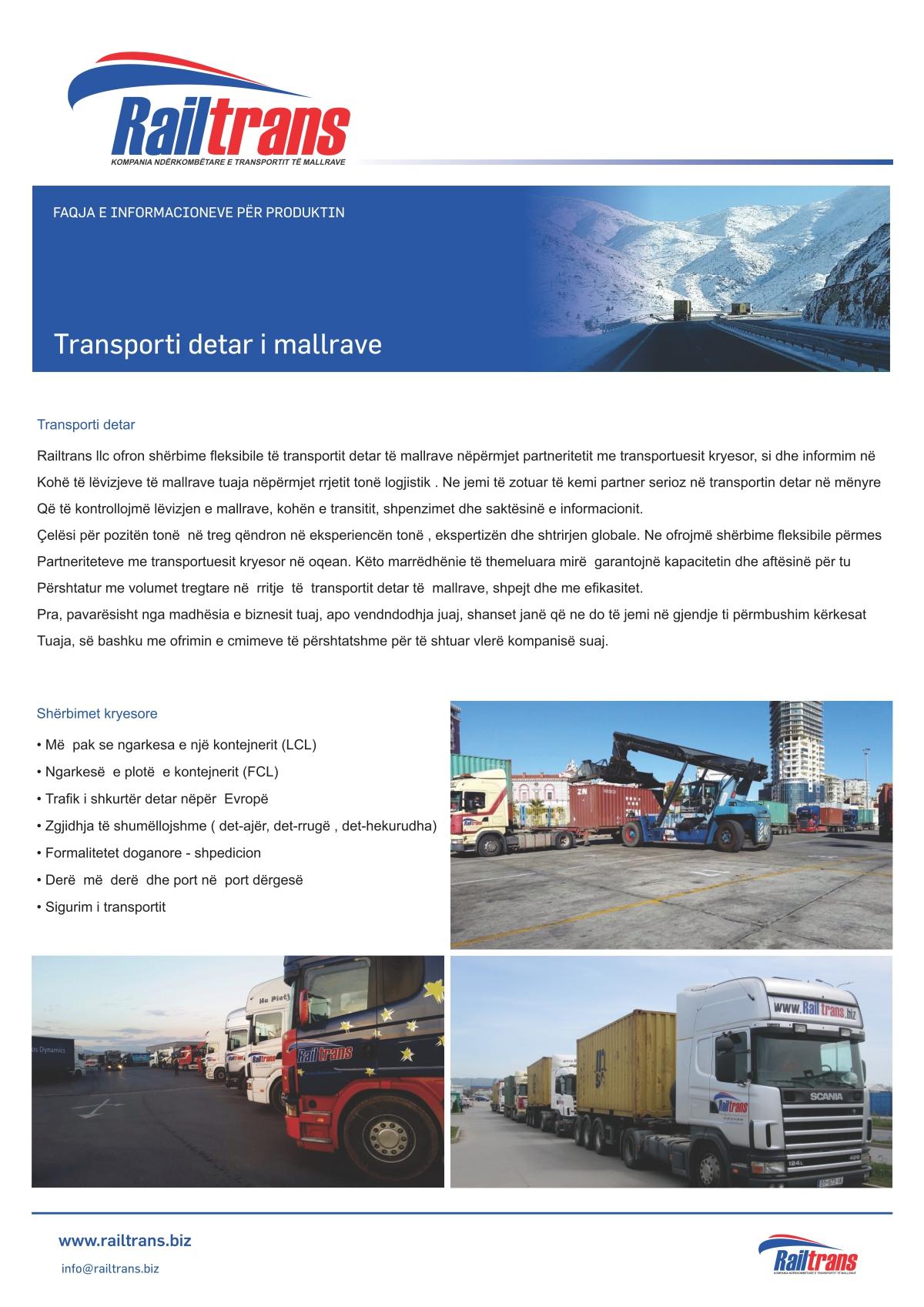 Transporti Detar i Mallrave